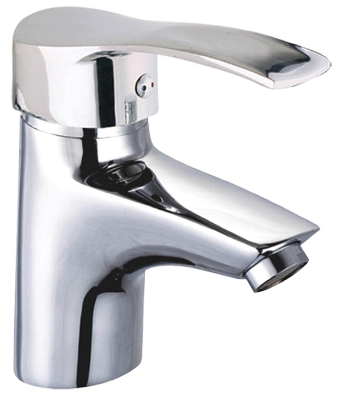 Einhebelmischer Waschtischarmatur Edelstahl Einhebel Wasserhahn Waschbecken Bad /& K/üche Armatur DIN Norm-Anschl/üsse