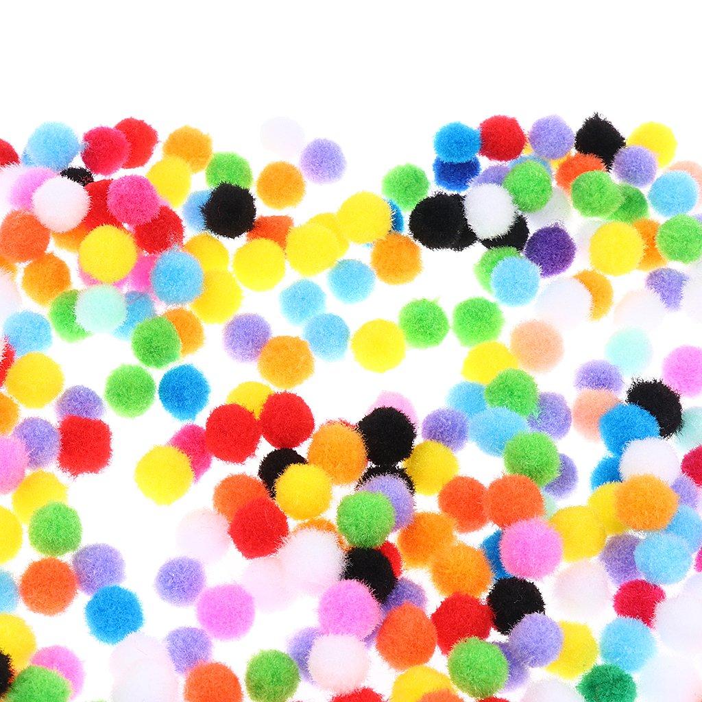 SM SunniMix 1000 Pieces Party Favors Supplies Fluffy Small Pompoms Crafts Decorations Pompom Balls Assorted Color
