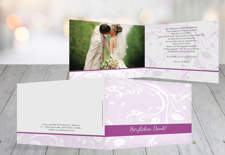 Kartenparadies Danksagung für Hochzeitsgeschenke Hochzeit Dankeskarte Blättertraum, hochwertige Danksagungskarte Hochzeitsglückwünsche inklusive Umschläge   10 Karten - (Format  148x105 mm) Farbe  WeinRot B01MTBL26S   Qualitätskön