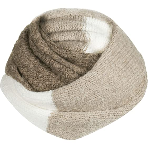 UGG Women's Three Color Lofty Infinity Scarf Oatmeal Multi One Size