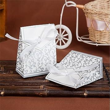 100 unidades de bolsas de regalo con lazos para boda, fiesta ...