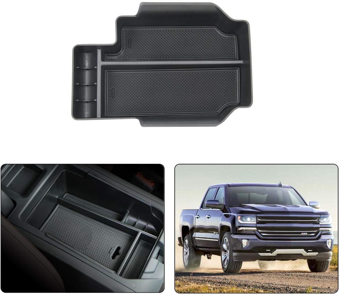 Umon Center Console Organizer Secret Compartment for 2014-2018 GMC Sierra Chevy Silverado 5559019842