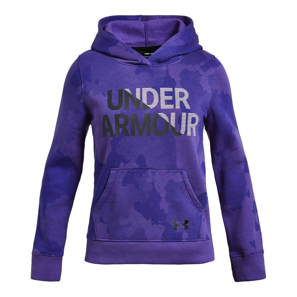 Under Armour Girls Rival Hoodie, Constellation Purple (531)/Black, X-Small