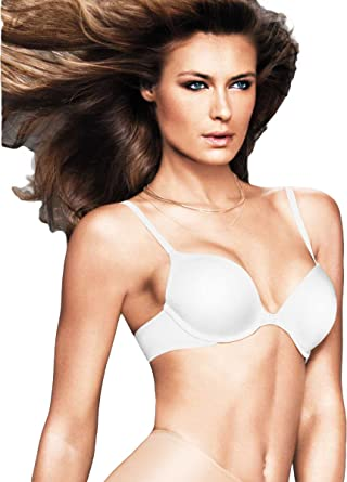 b12a6b2806 Image Unavailable. Image not available for. Color  Maidenform Custom Lift  Tailored Demi T-Shirt Bra White 32C