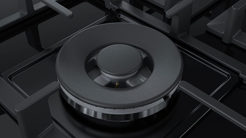 Placa Bosch Serie 6 PPQ7A6B90 Integrado Encimera de gas Negro hobs Integrado, Encimera de gas, Vidrio, Negro, 1000 W, 1750 W