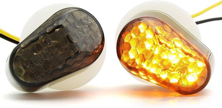 Amazon.com: 1 par de luces intermitentes LED universales ...