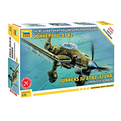 Zvezda JU-87B2 Stuka - German Dive Bomber - 1:72 Scale: Toys & Games