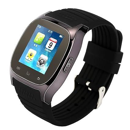 Tera M26 SmartWatch Reloj Bluetooth con pod¨®metro LCD de pantalla t¨¢ctil para el tel¨¦fono inteligente Android 4.0 HTC Samsung, etc. Color negro ...