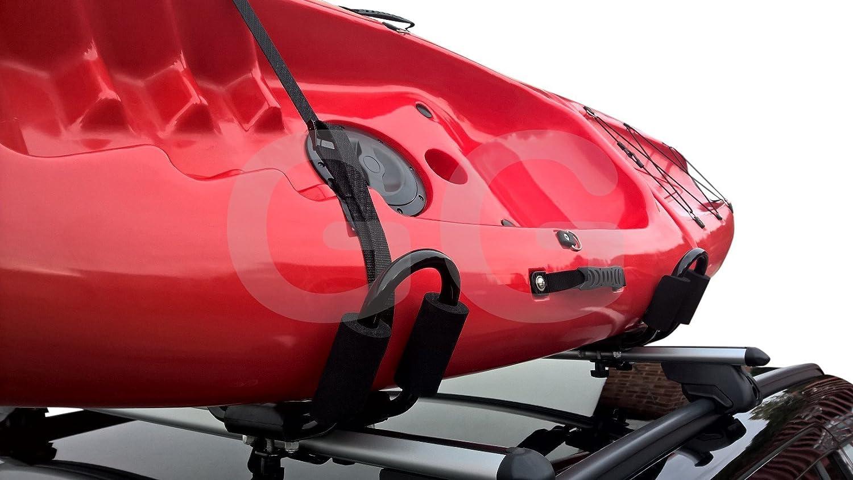 Riber Hull A Port Barres de toit de voiture pour transport de kayak Compatibilit/é universelle