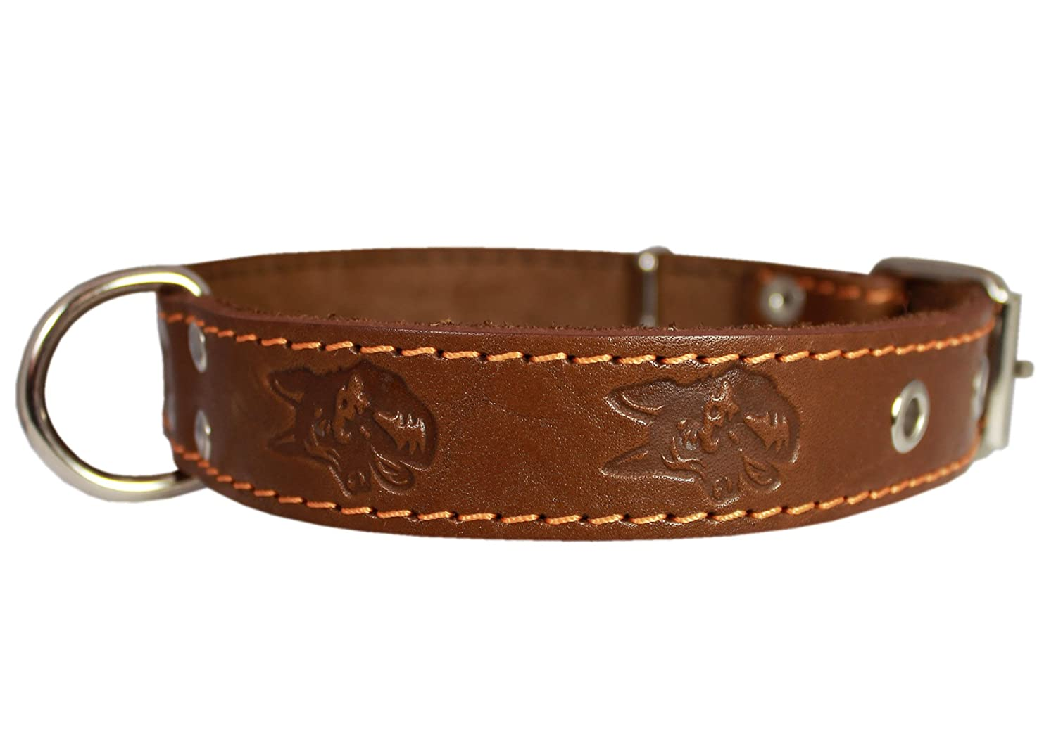 Genuine Leather Dog Collar 1.25 x22  Fits 15 -20  Neck, Brown