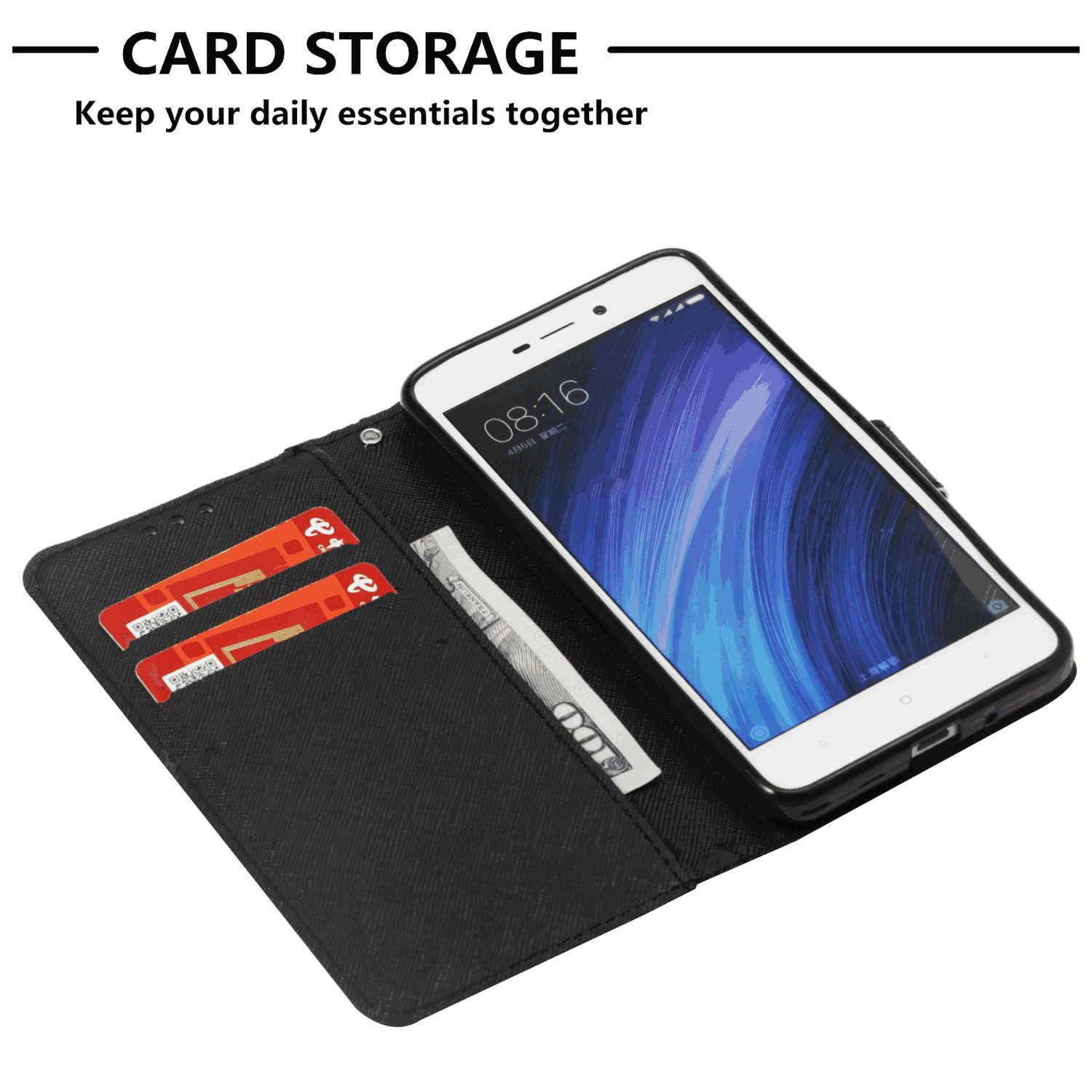 Samsung Galaxy S10 Flip Case Cover for Samsung Galaxy S10 Leather Card Holders Wallet Cover Kickstand Extra-Protective Business with Free Waterproof-Bag