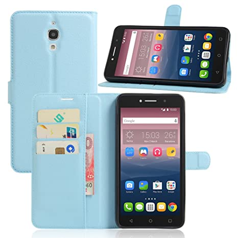 Nadakin Alcatel One Touch Pixi 4 6.0inch 3G Cartera de Cuero con Carcasa de Teléfono Flip Funda con Soporte Magnetico de Cierre para Alcatel One Touch ...