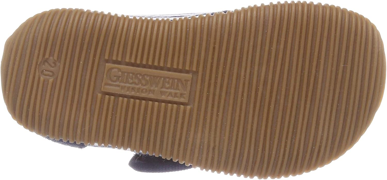 GIESSWEIN Kinderhausschuh Salach Hohe Pantoffeln aus Baumwolle f/ür Kinder Innensohle aus Leder Hausschuhe f/ür Jungen /& M/ädchen Cotton Slippers Klettverschluss