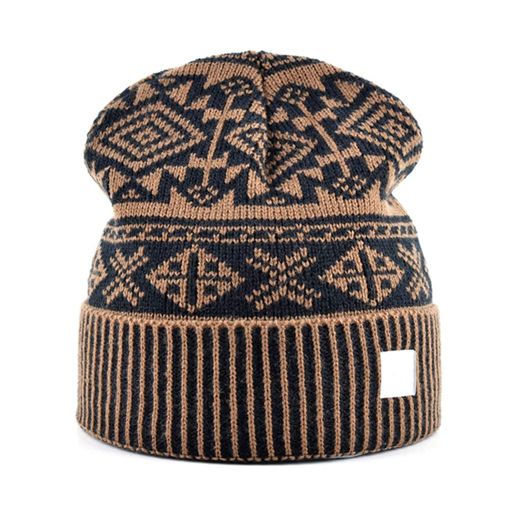 MJ-Young Classic Hat Men Beanies Winter Hats for Men Knitted Wool Skull Cap Hip-Hop Mens Caps