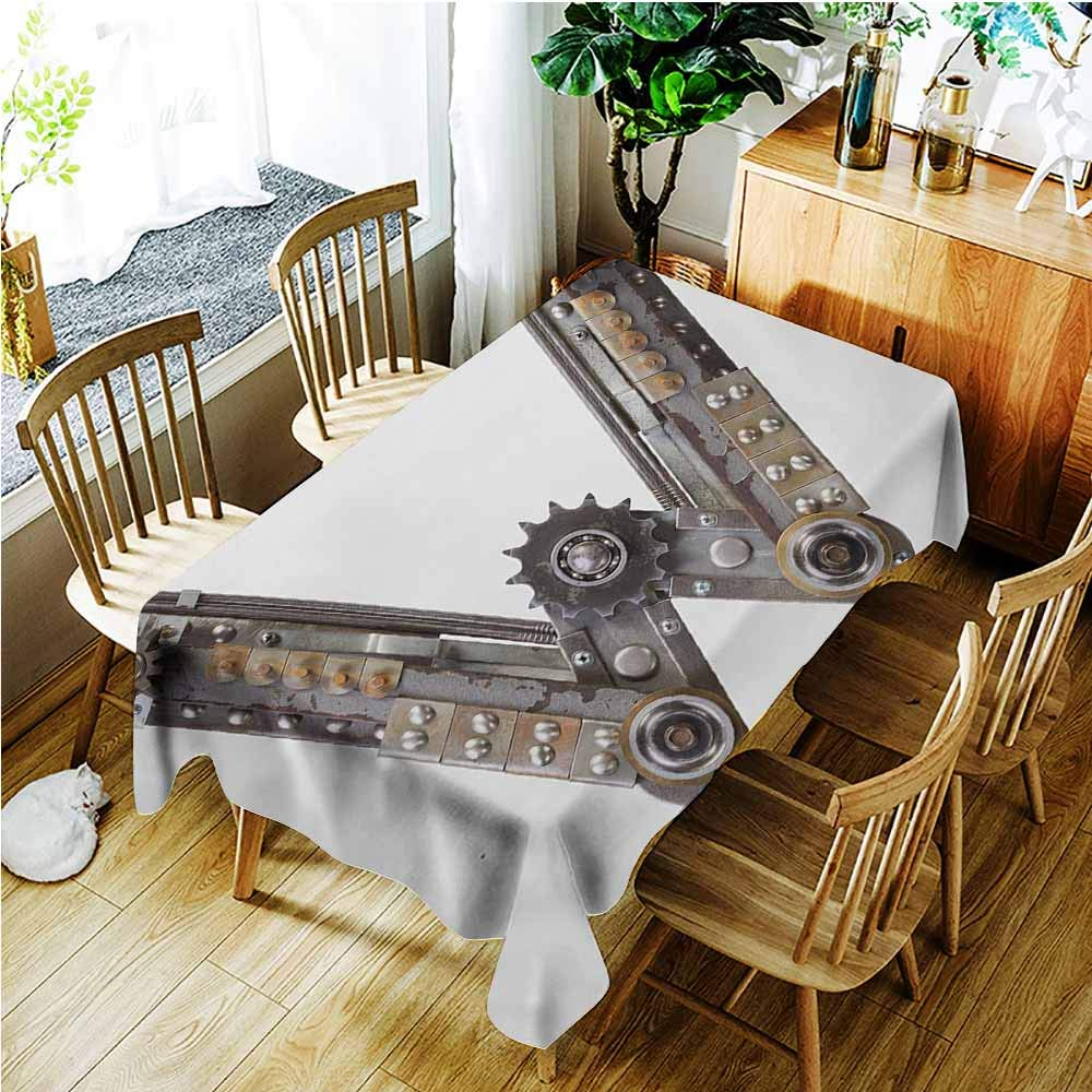 color01 54 x72 (138cmx183cm) AndyTours Resistant Table Cover,Industrial Discarded Ruin with Old Windows and Wall Aged Construction in Suburbs Print,High-end Durable Creative Home,W52x70L,Multicolor