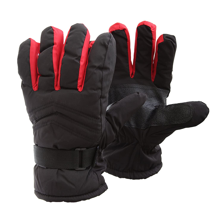FLOSO - Guantes de esquí / invierno termicos acolchados e impermeables con adherencia Unisex hombre mujer