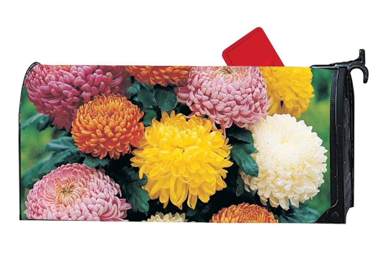 KSLIDS Attractive Mailbox Makeover BeautyChrysanthemumFlowers Mailbox Makover Cover Yard,Garden,Home Magnetic