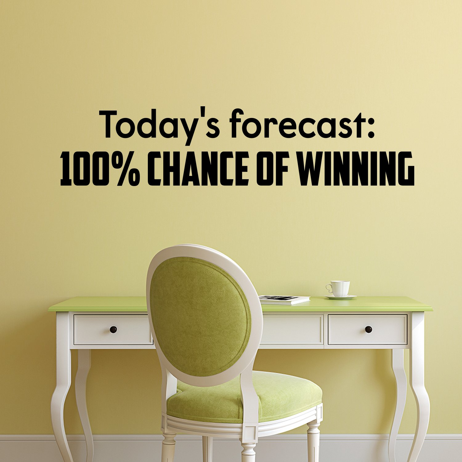 Amazon.com: Vinyl Wall Art Decal - Today\'s Forecast: 100% Chance Of ...