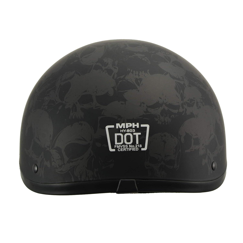 Milwaukee Performance Helmets Mens Size half helmet MAT BLACK L