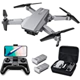 Tomzon D25 4K Drone with camera, Easy to Fly FPV Foldable Drone for Adults, Optical Flow Positioning, Headless Mode, Hand Ges