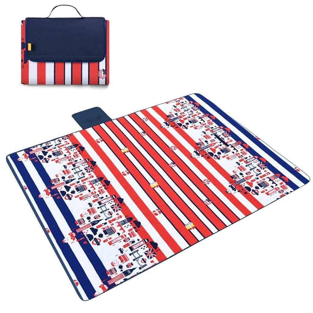 ZKKWLL Picnic Blanket Large Outdoor Picnic Blanket Foldable Beach mat Picnic Blanket Waterproof sandproof Outdoor Picnic Carpet mat with Handle Camping Picnic mat (Color : A) by ZKKWLL