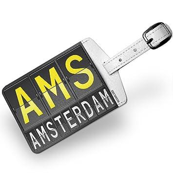 Amazon.com: Etiqueta para equipaje AMS Aeropuerto Código ...