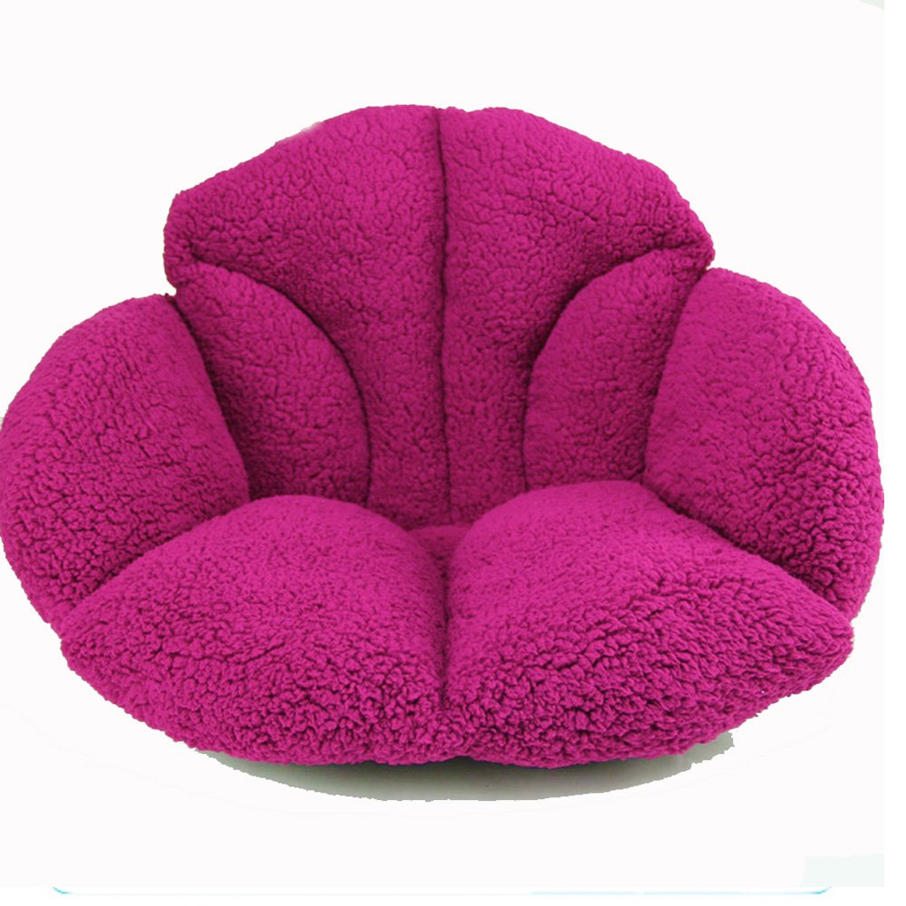 Plush Beautiful Seat Cushion pads for Back Pain Relief ,Sciatica And Tailbone Pain - Ideal for Office Chair , Car Driver ,Kitchen,Sofa (RED)
