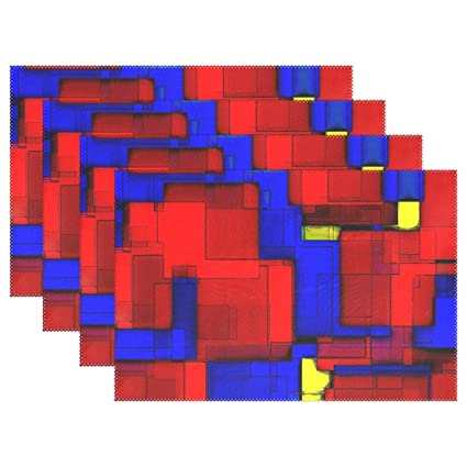 Red Blue Yellow Abstract Art