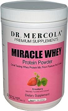 Amazon.com: Dr. Mercola Miracle Whey Strawberry 1 lb (16 oz ...
