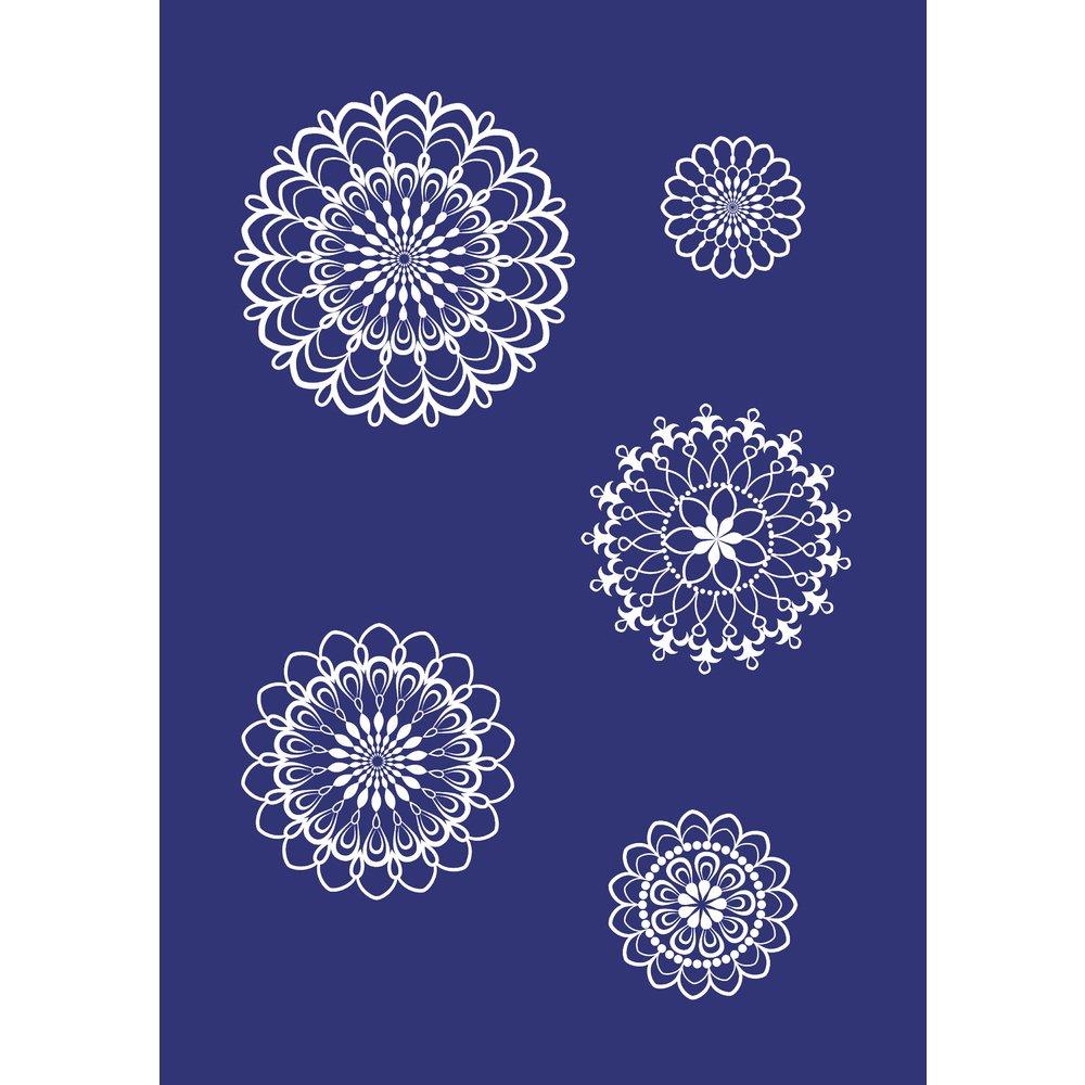 5db27f1e3a Rayher 45082000 Stencil per tessuti, motivo rosone, accessori decorazione,  DIN A4, con