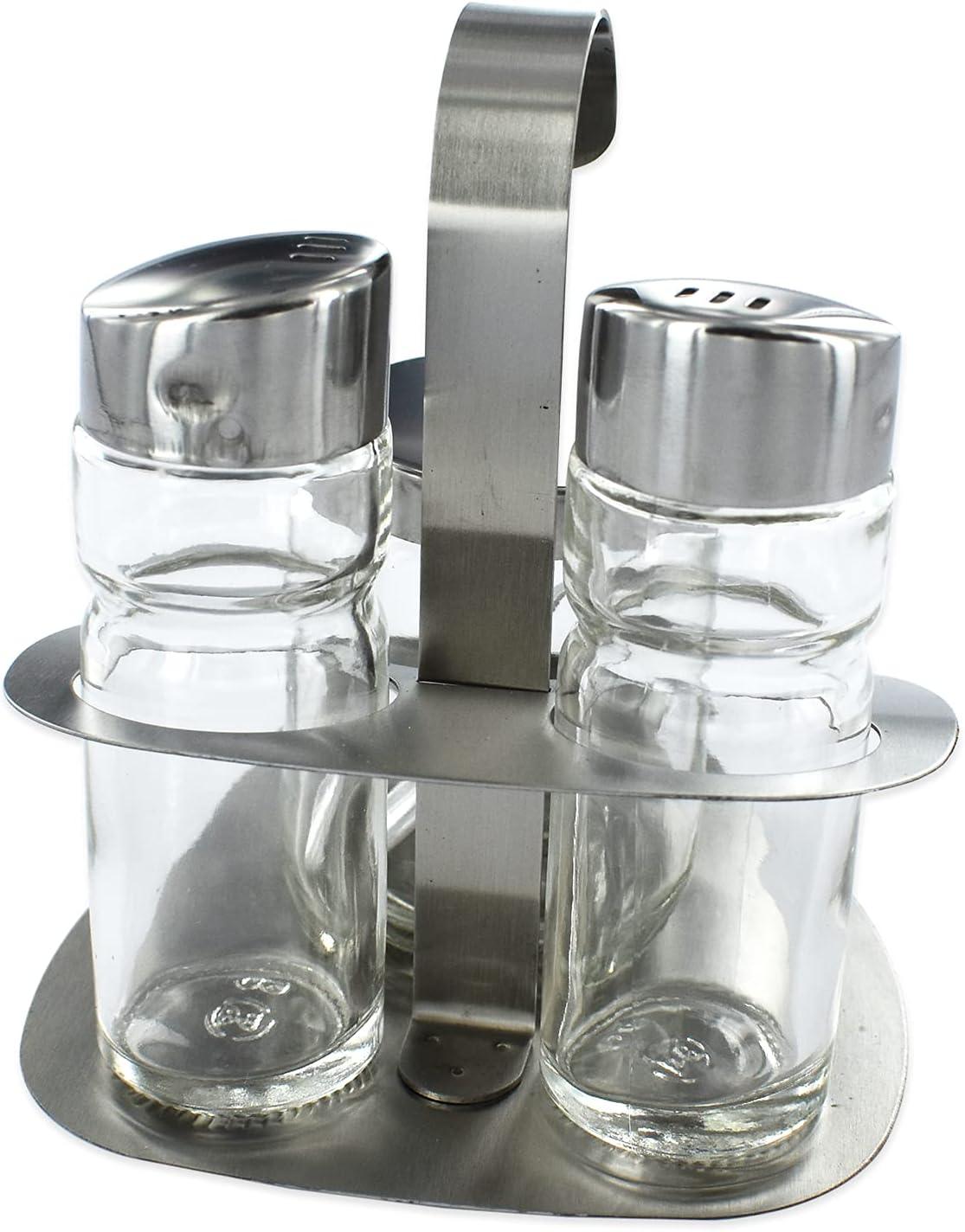 Fackelmann 2er Set Salière et Poivre fidèle à épices fidèle en verre