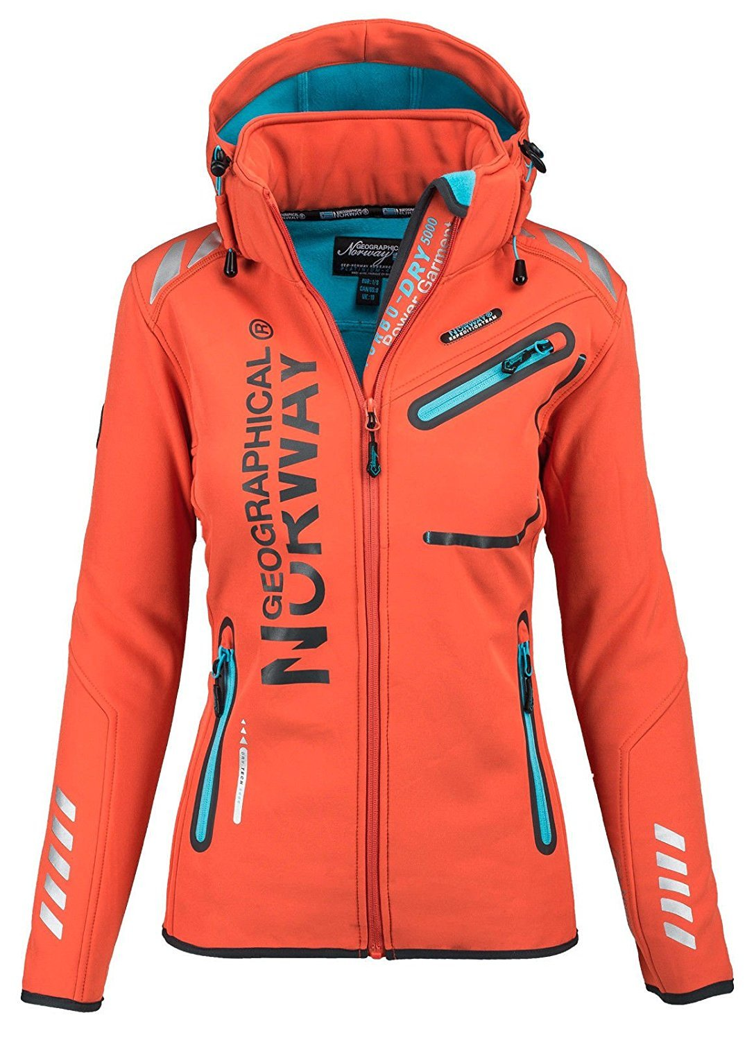 Geographical Norway Damen Softshell Funktions Outdoor Regen Jacke Sport GeNo-24