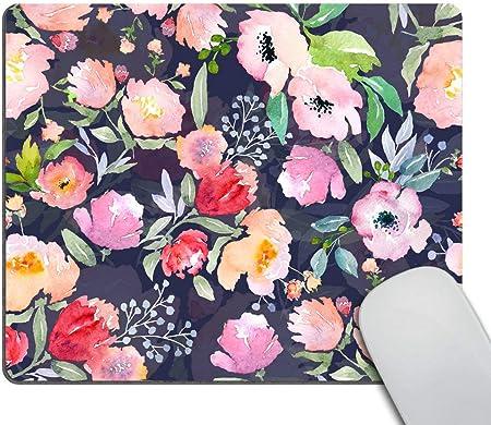 Wasach Hübsches Mauspad Mit Tropischen Pflanzen Blumen Elektronik