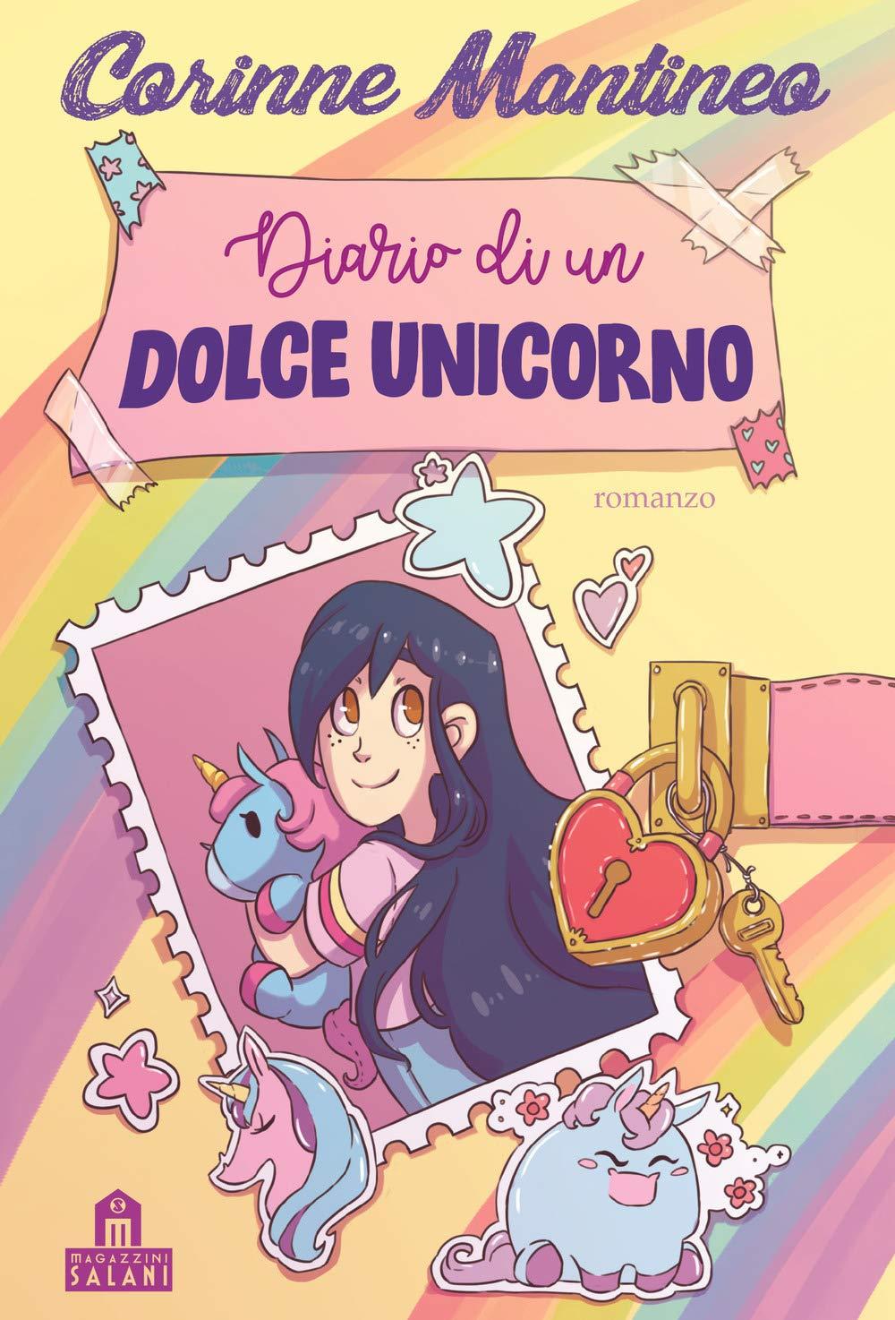 Felpa CORINNE MANTINEO T-shirt Maglietta DOLCI UNICORNI bambina maglia unicorno3