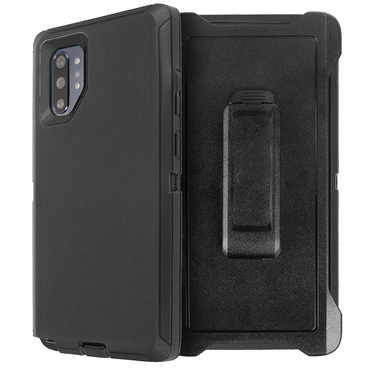 AICase for Galaxy Note 10 Plus Belt-Clip Holster Case, Full Body Rugged Heavy Duty Case with Screen Protector, Shock/Drop/Dust Proof 4-Layer Protection Cover for Samsung Galaxy Note 10 Plus by AICase