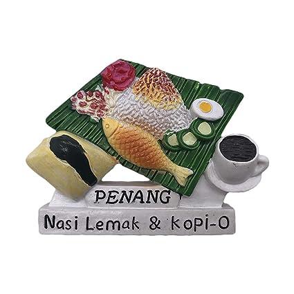 Buy 3D Nasi Lemak Penang Malaysia Refrigerator Fridge Magnet