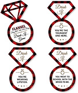 product image for Big Dot of Happiness Drink If Game - Flannel Fling Before the Ring - Buffalo Plaid Bachelorette Party Game - 24 Count