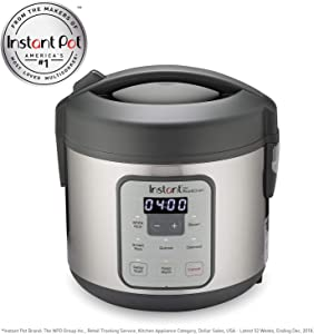 Instant Zest Rice and Grain Cooker - 8 cup rice cooker from the makers of Instant Pot (Renewed)