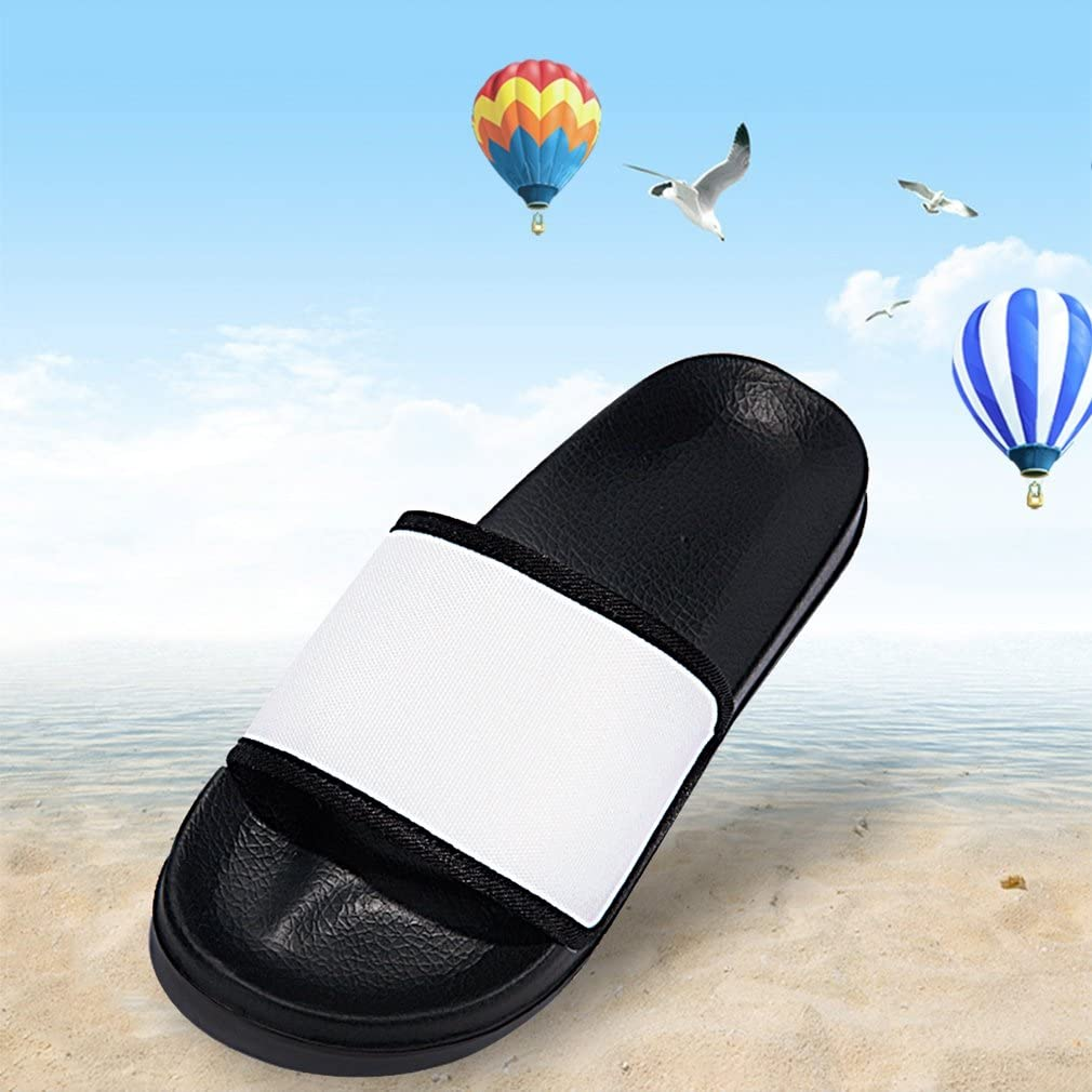 Men Shower Shoes Bathroom Slippers Gym Slippers Soft Sole Open Toe House Slippers Black