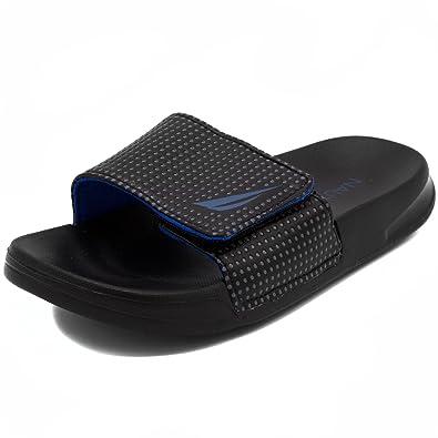 d8642ff9f8f9 Nautica Kids Slip-On Sandal Athletic Slide-Chapora-Black Cobalt-13