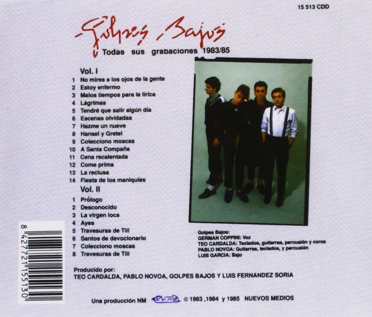 Golpes Bajos. Todas Sus Grabaciones 1983-1985: Golpes Bajos: Amazon.es: Música