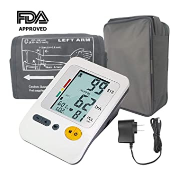 Automatic Blood Pressure Monitor Upper Arm Large Cuff, 4-User Mode Electronic BP Monitor