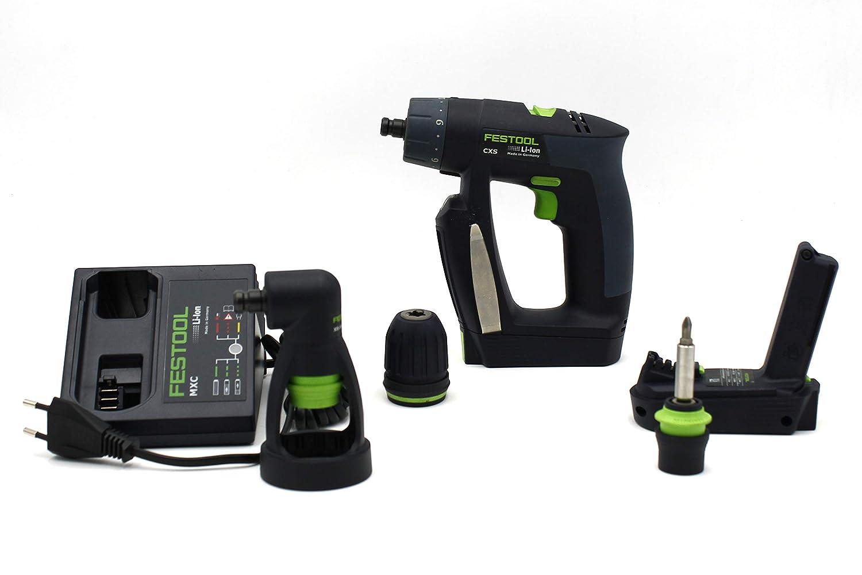 Festool Taladro atornillador a batería CXS Li 1,3 Set 564271: Amazon ...