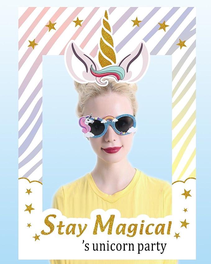 ABYED Marco de foto de selfie Accesorio de fiesta cumpleaños de unicornio: Amazon.es: Juguetes y juegos