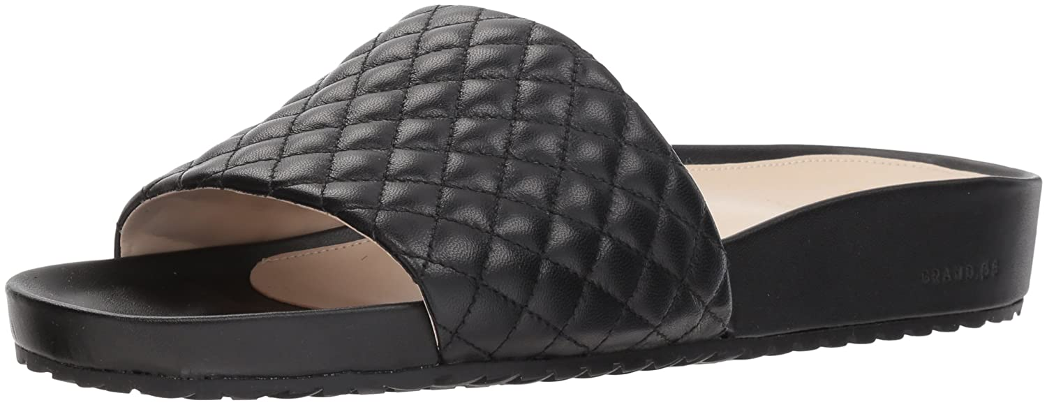 Cole Haan Women's Pinch Montauk Slide Flat Sandal B07CJ673N3 8 B(M) US|Black Quilted Leather