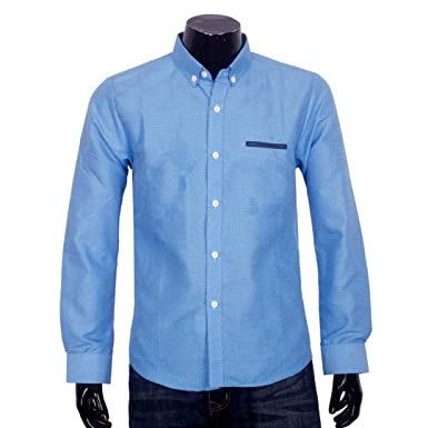 a8dbae2e5a Image Unavailable. Image not available for. Colour  BUSIM Men s Long  Sleeved Shirt Business Casual Official Print Dot ...