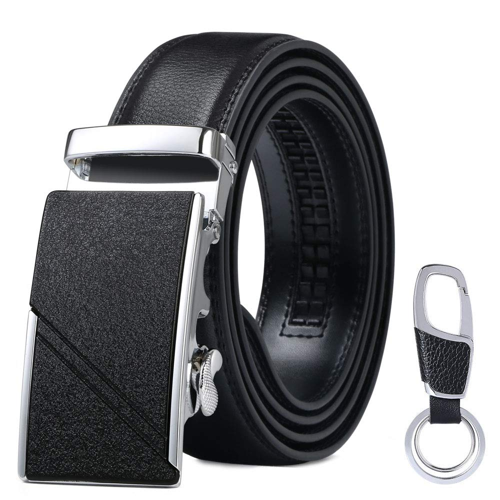 flintronic /® Cintur/ón Cuero Hombre Sencillo y Cl/ásico Perfecto Regalo Cinturones Piel con Hebilla Autom/ática