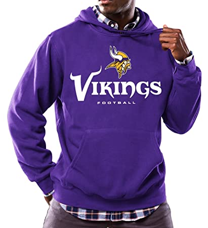 ee52cece8 Image Unavailable. Image not available for. Color  Majestic Minnesota  Vikings NFL Critical Victory 3 quot  Men s Hooded Sweatshirt
