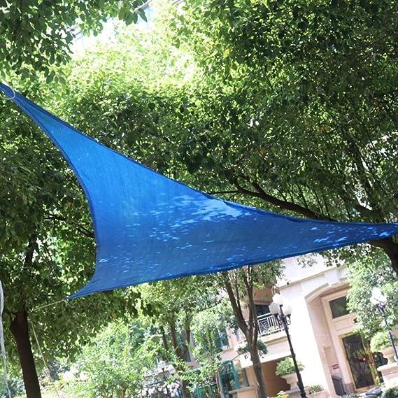 BYWWANG 3x3x4.3m triángulo toldo Vela Protector Solar Impermeable jardín terraza Piscina Sombra Tela: Amazon.es: Deportes y aire libre
