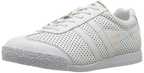 Gola Damen LTH Harrier Glimmer LTH Damen Weiß Rose Gold Sneaker  Amazon  ... 17480a